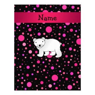 Lunares conocidos personalizados del rosa del oso plantilla de membrete