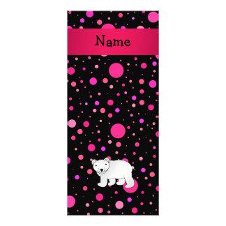 Lunares conocidos personalizados del rosa del oso  lonas publicitarias