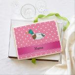 Lunares conocidos personalizados del rosa del pato