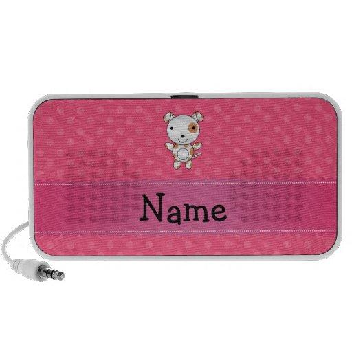 Lunares conocidos personalizados del rosa del perr altavoces de viajar