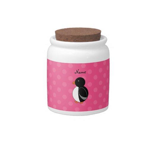 Lunares conocidos personalizados del rosa del ping jarras para caramelos