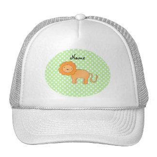 Lunares conocidos personalizados del verde del leó gorra