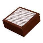 Lunares de Brown en blanco Cajas De Joyas