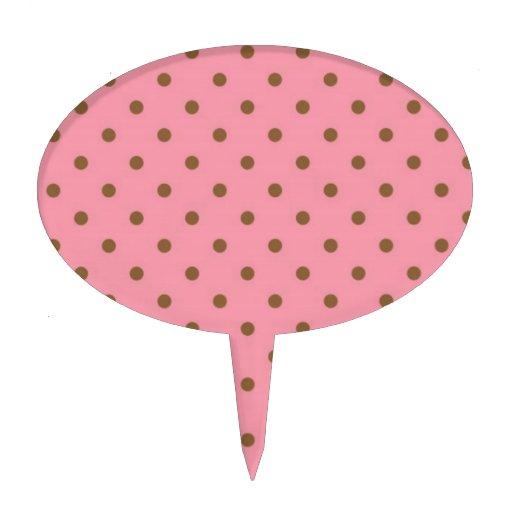 Lunares de Brown en fondo rosado Decoración De Tarta