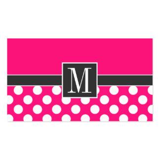 Lunares de color rosa oscuro lindos tarjetas de visita