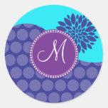 Lunares de encargo de la púrpura del trullo de la pegatinas redondas