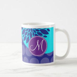 Lunares de encargo de la púrpura del trullo de la taza de café