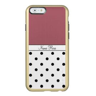 Lunares de encargo del nombre de Brown, negros y Funda Para iPhone 6 Plus Incipio Feather Shine