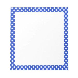Lunares de la combinación del azul real bloc de papel