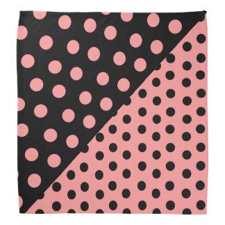 Lunares de la doble personalidad - rosa+Negro Bandana