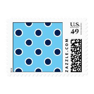 Lunares de la marina de guerra en azul claro - timbre postal