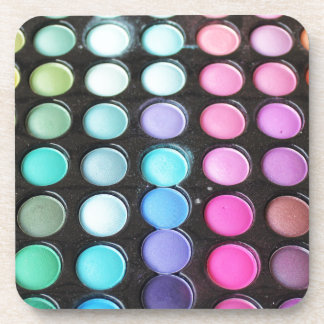 Lunares de la paleta del maquillaje del arco iris portavasos