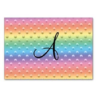Lunares de la perla del arco iris del monograma