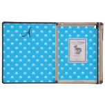 Lunares de la perla del azul de cielo del monogram iPad carcasa