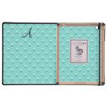 Lunares de la perla del verde del seafoam del mono iPad coberturas
