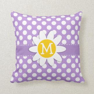 Lunares de la púrpura de la lavanda almohada