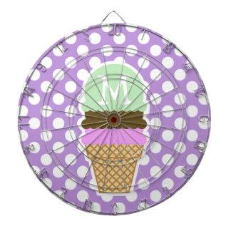 Lunares de la púrpura de la lavanda; Cono de helad
