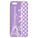 Lunares de la púrpura de la lavanda; París