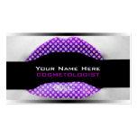 Lunares de la púrpura de las tarjetas de visita de
