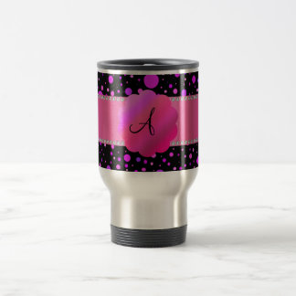 Lunares de la púrpura del monograma tazas