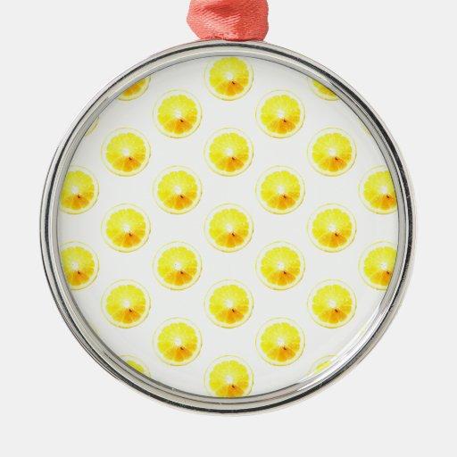 Lunares de la rebanada del limón adorno para reyes