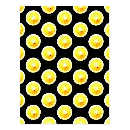 Lunares de la rebanada del limón postal