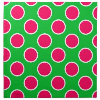 Lunares de la sandía servilleta imprimida