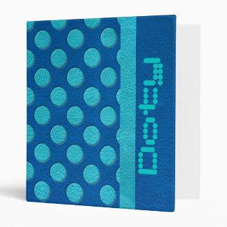 """Lunares de la turquesa en la textura de cuero azul carpeta 1"""""""