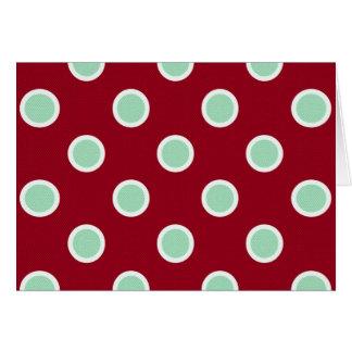 Lunares de la verde menta en la tarjeta marrón de