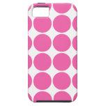 Lunares de las rosas fuertes del diseño de la impr iPhone 5 cárcasa