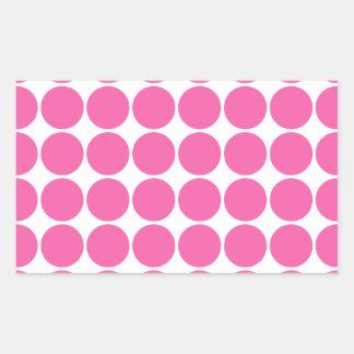 Lunares de las rosas fuertes del diseño de la impr rectangular pegatinas