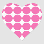 Lunares de las rosas fuertes del diseño de la pegatinas de corazon personalizadas