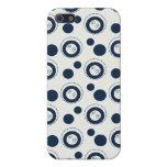 Lunares de los círculos concéntricos de los azules iPhone 5 cobertura