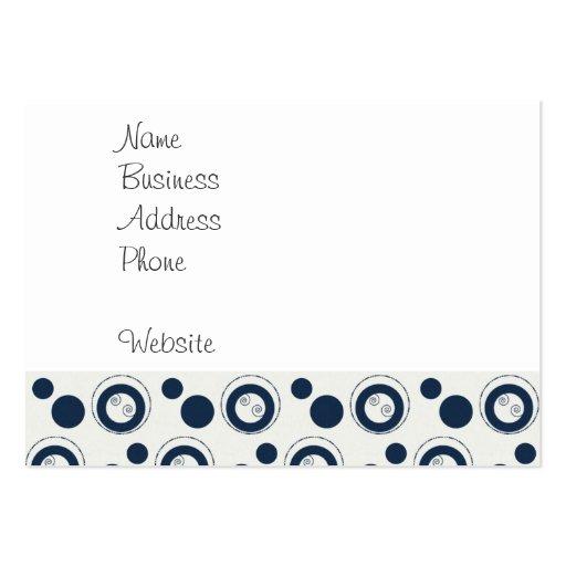 Lunares de los círculos concéntricos de los azules tarjeta de visita