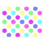 Lunares de los colores en colores pastel postal