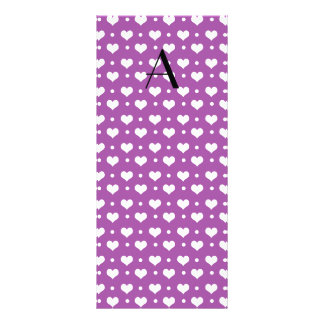 Lunares de los corazones púrpuras de la lila del tarjetas publicitarias
