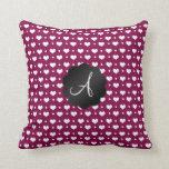 Lunares de los corazones púrpuras del ciruelo del  cojines