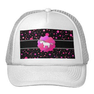 Lunares de lujo del rosa del unicornio gorro de camionero