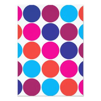 Lunares de moda de los círculos coloridos anuncio personalizado