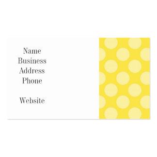 Lunares del amarillo del verano de la diversión en tarjetas de visita