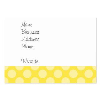 Lunares del amarillo del verano de la diversión en tarjetas de visita grandes