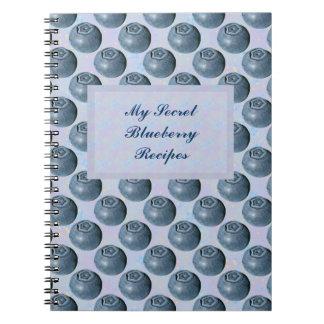 Lunares del arándano libros de apuntes con espiral