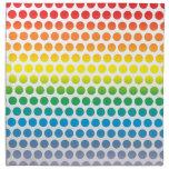 Lunares del arco iris blancos servilleta de papel