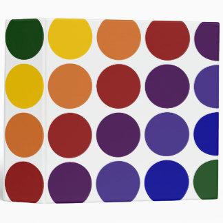 """Lunares del arco iris en blanco carpeta 2"""""""