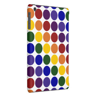 Lunares del arco iris en blanco fundas de iPad mini retina