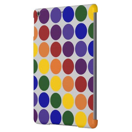 Lunares del arco iris en gris carcasa para iPad air