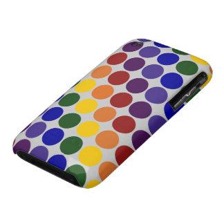 Lunares del arco iris en gris Case-Mate iPhone 3 cárcasa