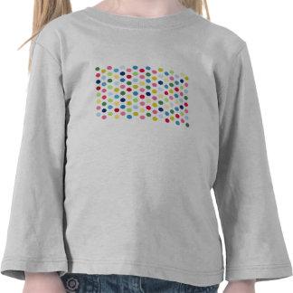 Lunares del arco iris camiseta
