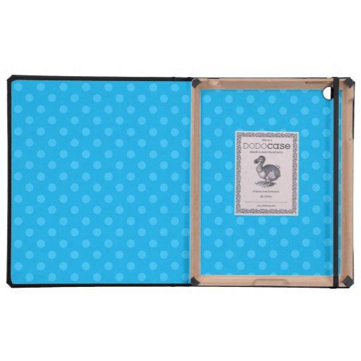 Lunares del azul de cielo iPad protector