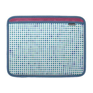 Lunares del azul de la aguamarina funda  MacBook